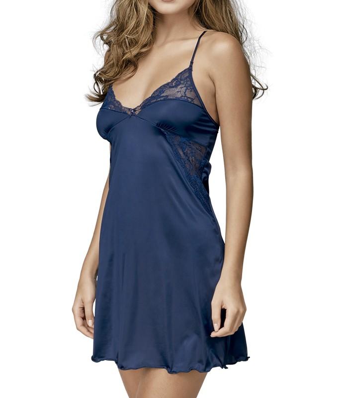 5f6d1f68e Camisola Curta DeMillus Lybito (30154) Marinho    lingerie.com.br