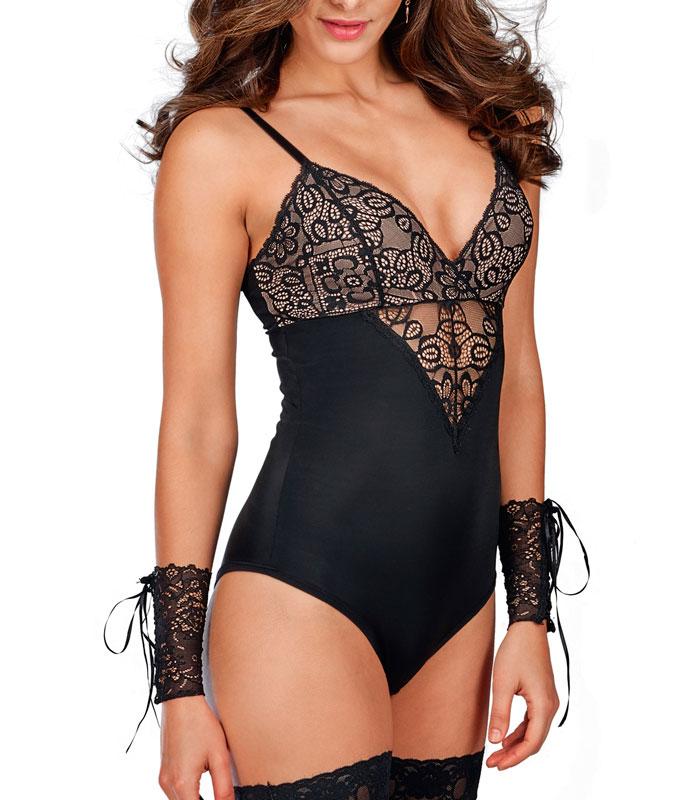be3d2d635 Body com Renda Emirtage DeMillus (98068)    lingerie.com.br