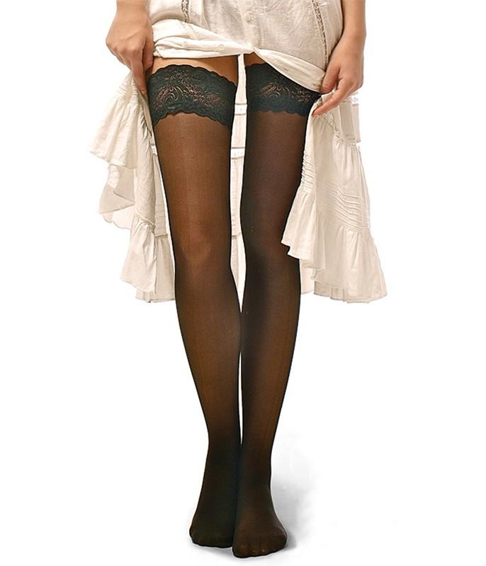 efa6e2255 Meia 7 8 Jiggy (SOB001) Renda no Topo    lingerie.com.br
