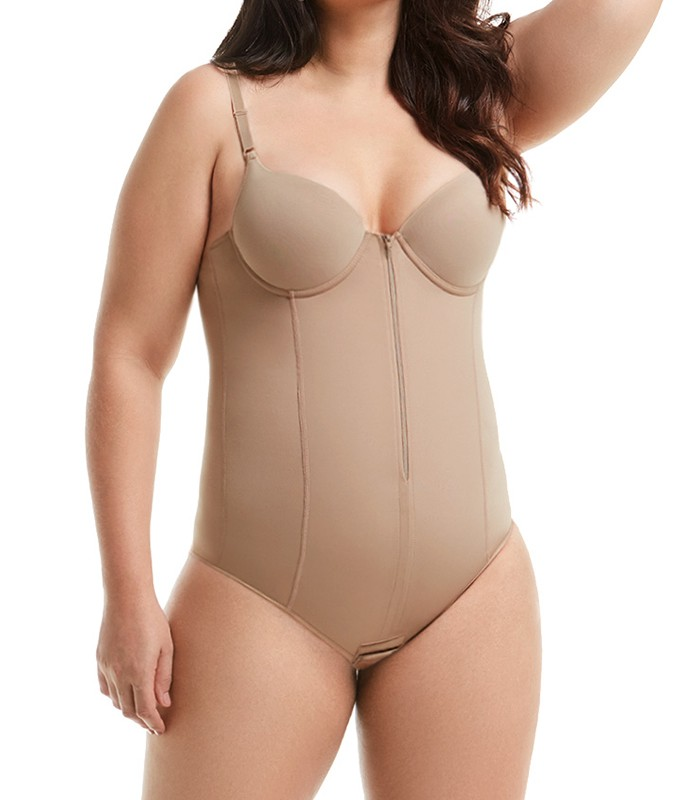 cae539f77 Body Modelador com Zíper Mondress (755RE) Plus Size    lingerie.com.br