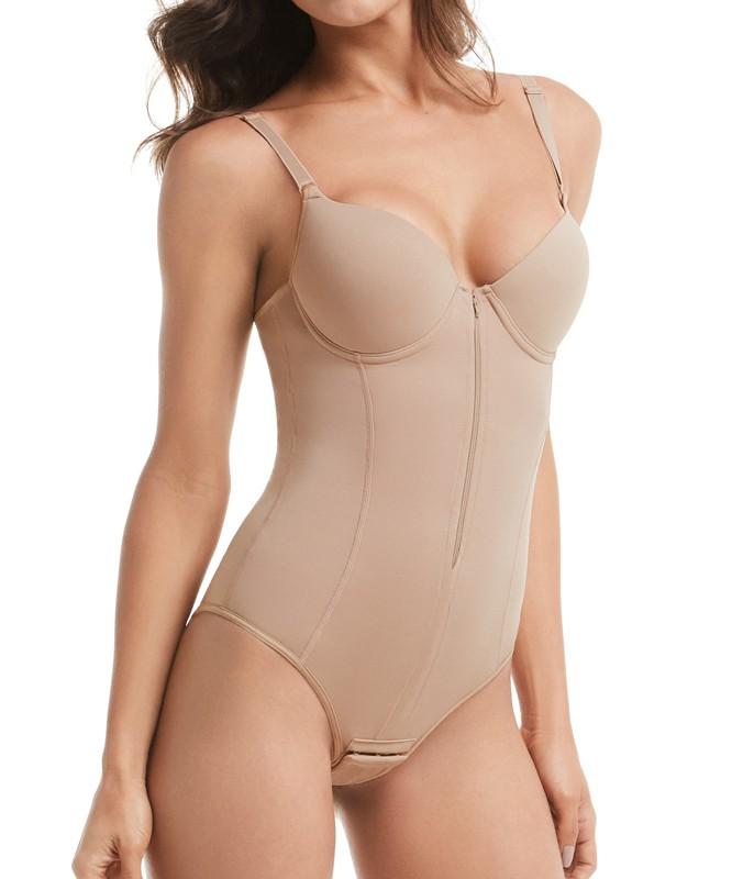 274128157 Body Modelador com Zíper Mondress (755R)    lingerie.com.br