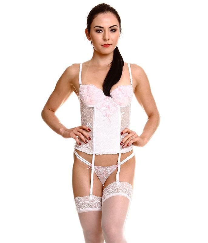 930e35c8f Espartilho Tule Bordado (9315)    lingerie.com.br