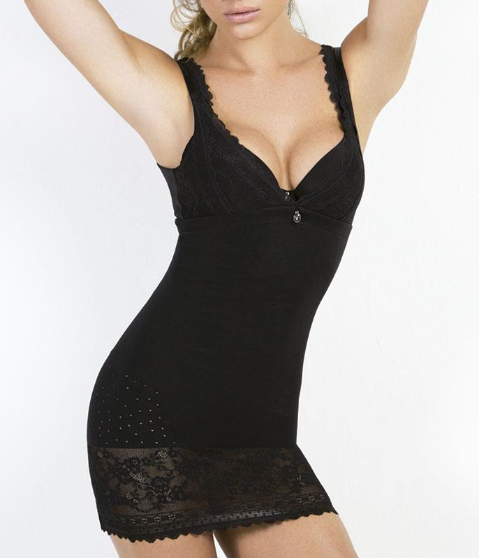 3bcc2e4e0 modeladores saia vestido modelador combinacao triumph lace shape sensation  10129314 media compressao