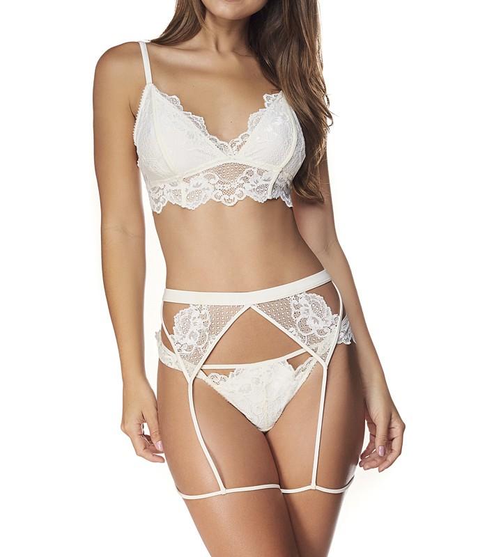 90cc8cbb4 Conjunto Cinta-Liga Rendada I Do Valisere (30164 3016-4)    lingerie ...